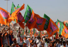 BJP_flags_AFP31