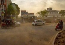 Mathura dust storm weather