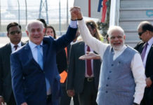 israel pm meet to modi in india pm
